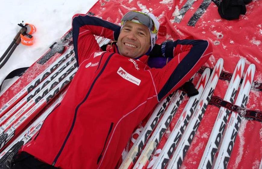 Biathlon-Superstar Ole Einar Björndalen nimmt an der EM in Ridnaun teil.