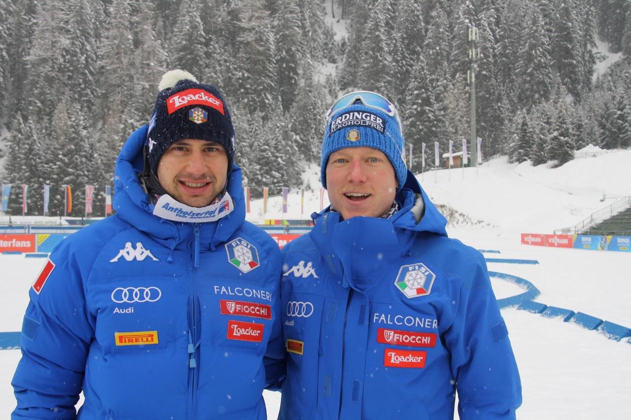 Dominik Windisch und Lukas Hofer weilten bereits am Dienstag in Antholz.