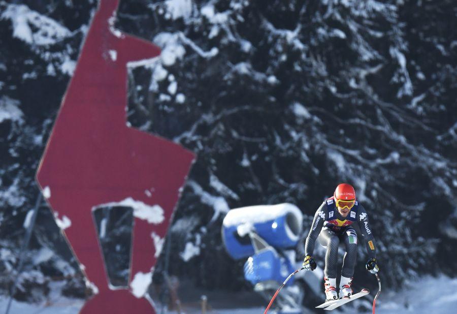Skifahren im Schatten der Gams: Christof Innerhofer 2017 auf der Streif. (Foto: APA)