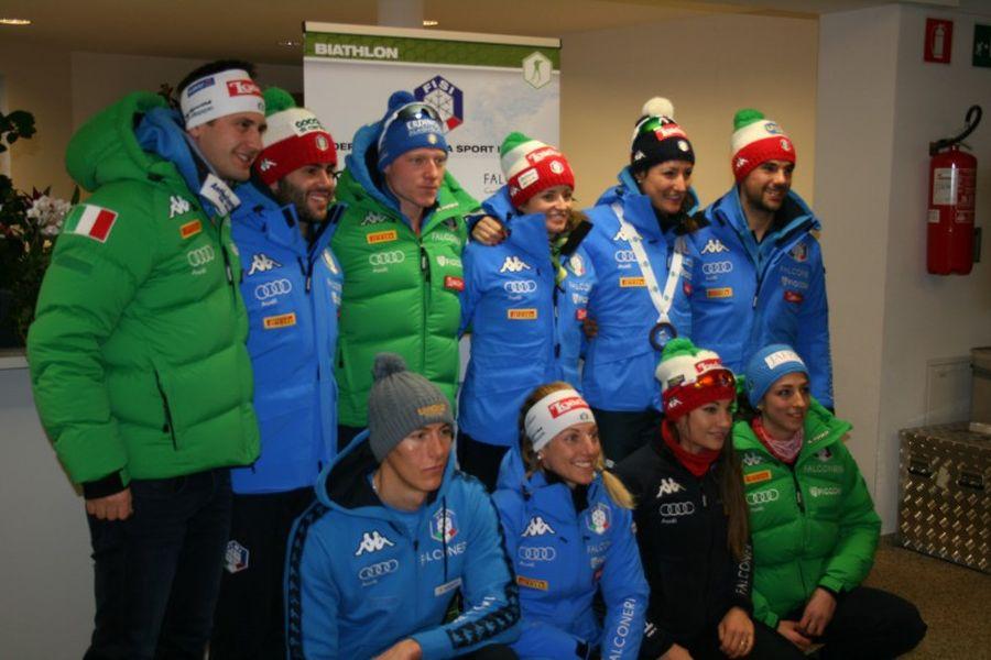 [Translate to italiano:] Die Biathlon-Nationalmannschaft (Foto: Michele Persico)