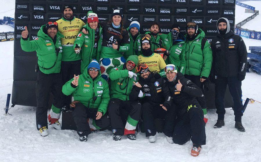 La squadra italiana di snowboardcross (Foto: FISI)