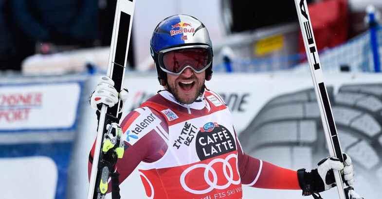 Aksel Lund Svindal gewann zum 6. Mal in Gröden (Foto FB)